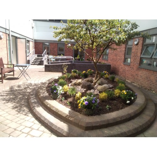 A fresh new outlook, filled with plants at South Tees Hospital